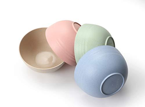 FLUX KITCHENWARE Unbreakable Cereal Bowls - Wheat Straw Fiber - Lightweight Bowl - Dishwasher...