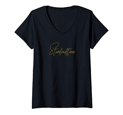 Damen Standardtänze Sportausrüstung, Kleidung & Zubehör T-Shirt mit V-Ausschnitt