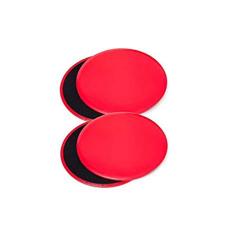 KingBra Core Sliders Esercizio su moquette o pavimenti in legno duro, ideale per crossfit, cross training, allenamento addominale (2 set, rosso)