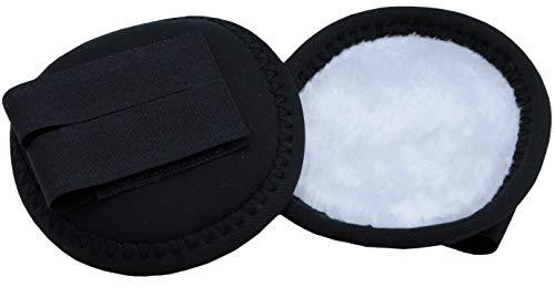 AMKA Ohrenwärmer schwarz Ohrenschützer für Reithelm Ohrwärmer in schwarz-Weiss