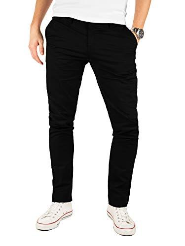 Yazubi Chino Herrenhosen schwarz - Kyle by Yzb Jeans Schwarze Hose - Business Stoff Hosen Chinohose Maenner Stretch, Schwarz (Black 4R194008), W29/L30