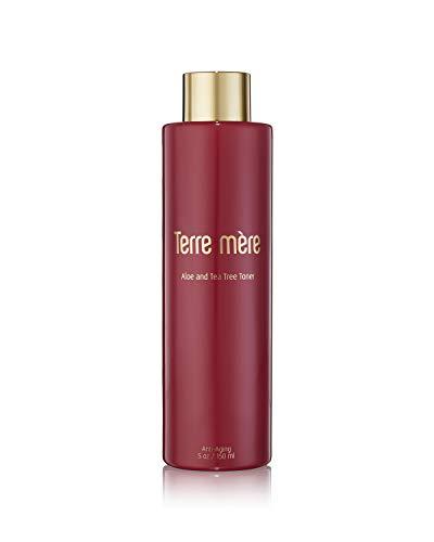 Face Toner, Aloe and Tea Tree Toner, Anti Aging, Terre Mere, 150ml 5oz