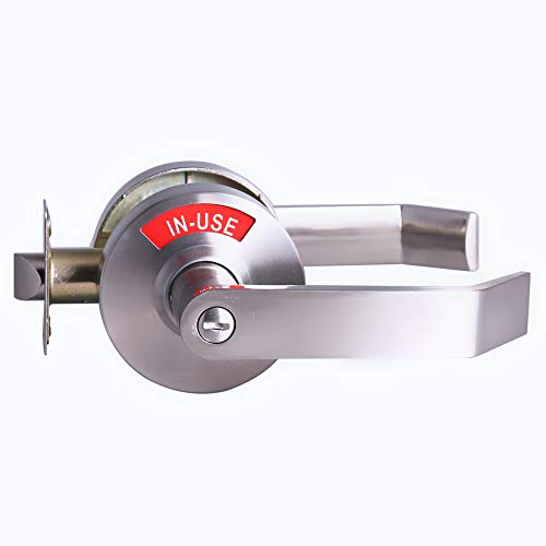 Privacy Lock with Large Indicator for Bathroom Inuse and Vacant, ANSI Grade2 Commercial Grade, Perfect for All Restroooms Professional Office Buildings Apartment Airbnb Warehouse (Mro Storeroom Best Practices)