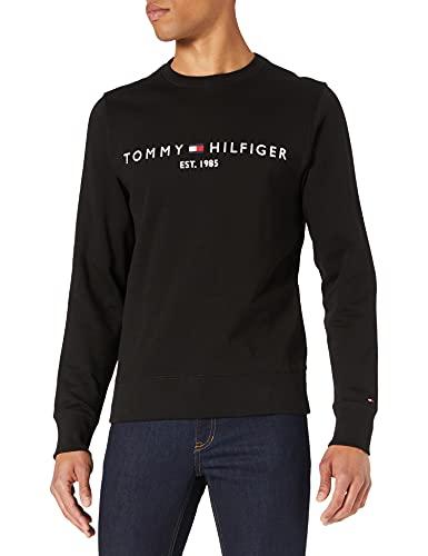 Tommy Hilfiger Tommy Logo Sweatshirt Sudadera con Capucha, Negro (, M para Hombre