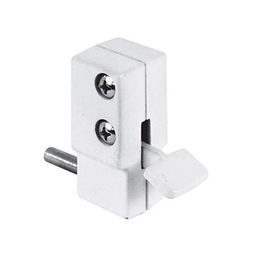 Defender Security U 9879 Sliding Door Lock, White Finish