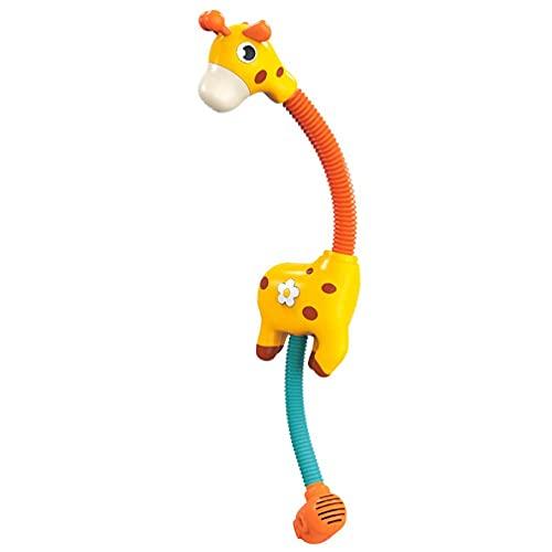 Cabezal de ducha, rociador de agua, juguete de baño interactivo, ducha para bañar bebés, cabeza sin arrugas, fuerte ventosa, juguete de baño para bebés de 0 a 18 meses