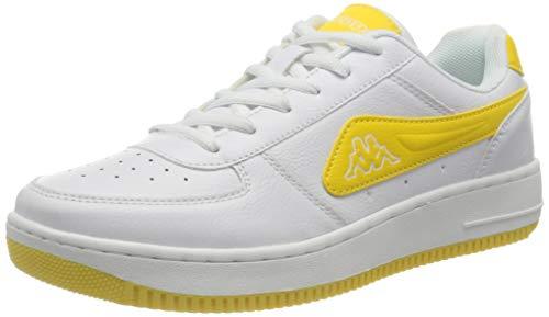 Kappa Bash NC, Zapatillas Unisex Adulto, 1040 White/Yellow, 36 EU
