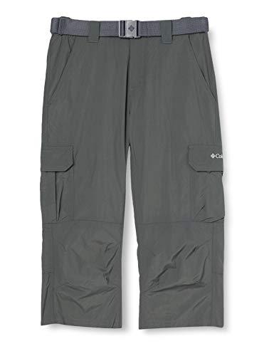 Columbia Silver Ridge II Pantalones de Senderismo Convertibles, Hombre, Gris (Grill), W34/L32