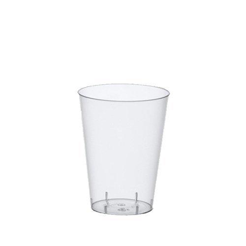 Papstar Trinkbecher / Plastikbecher (50 Stück) 0.2 l, Ø 7.5 x 9.7 cm, glasklar, transparent, aus Polystyrol, für Ausflüge und Feiern wie Grillpartys und Wanderungen, #12162