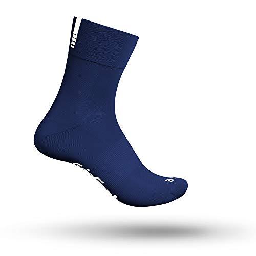 GripGrab Lightweight SL Performance - Calze da ciclismo, 8 colori e 2 lunghezze, per uomo e donna, Unisex - Adulto, Calze da ciclismo., 3017, Blu navy - lungo., M (41-44)