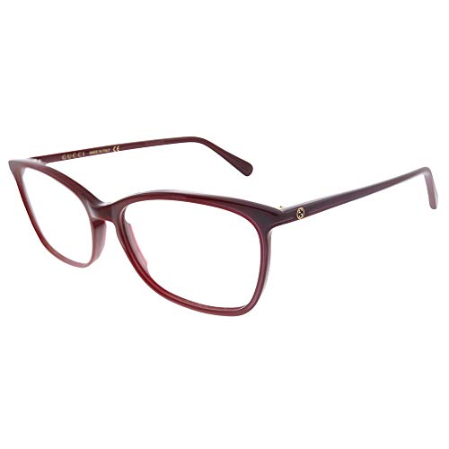 Gucci 0548O 008 - Gafas rectangulares (plástico, 55 mm)