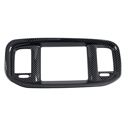 HAIJIU Car Carbon Fiber Style Dashboard GPS Navigation Frame Cover Trim Fit for Dodge Charger 2015-2020 (Color Name : Black)