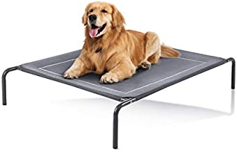 Love's cabin Outdoor Elevated Dog Bed - 43in Pet Dog Beds for Extra Large Medium Small Dogs - Portable Dog Cot for Camping or Beach, Durable Fall Frame Raised Dog Bed with Breathable Mesh