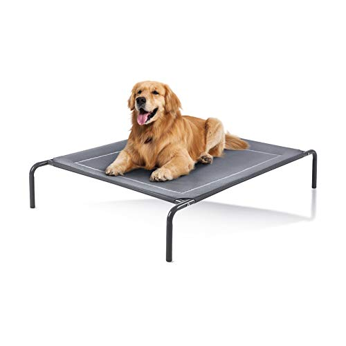Love's cabin Outdoor Elevated Dog Bed - 49in Pet Dog Beds for Extra Large Medium Small Dogs - Portable Dog Cot for Camping or Beach, Durable Fall Frame Raised Dog Bed with Breathable Mesh