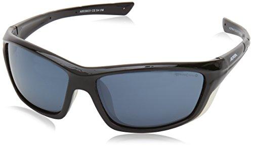 Alpina Sonnenbrille Glacier FLEXXY Tour cm+ Sportbrille, Black-White, One Size