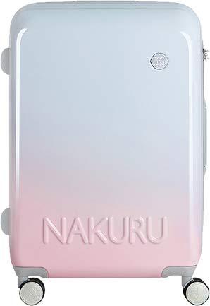 [NAKURU 2251] スーツケース レディース かわいい 軽量 ファスナータイプ ABS+PC 計8輪 Wキャスター ダイヤルロック (S, ブルーピンク)