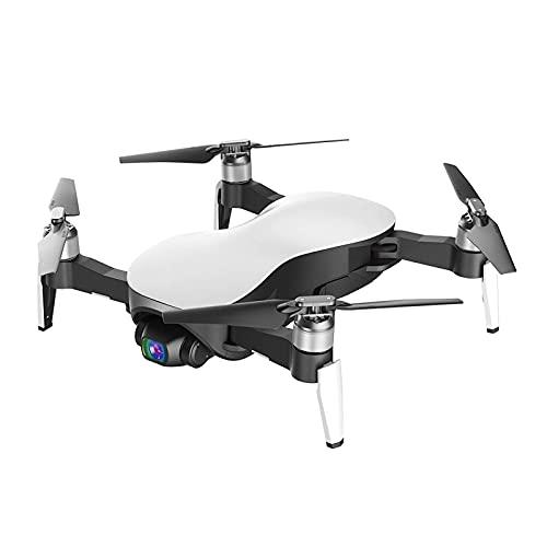 SuRose Drone, Drone cardán de Tres Ejes, cámara 4k HD GPS Quadcopter, Seguimiento Inteligente, Control Remoto, Amplificador de señal WiFi, Blanco