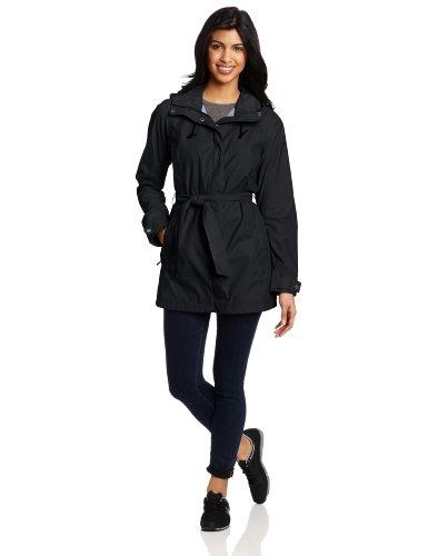 Columbia Women's Pardon My Trench Rain Jacket, Black, Large