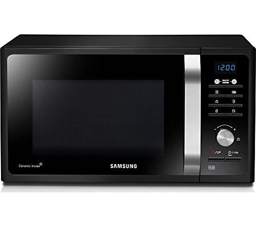 Samsung MS23F301TA - Horno microondas de 23 litros con plato, horno de cocina combinado de acero inoxidable, 800 W, negro