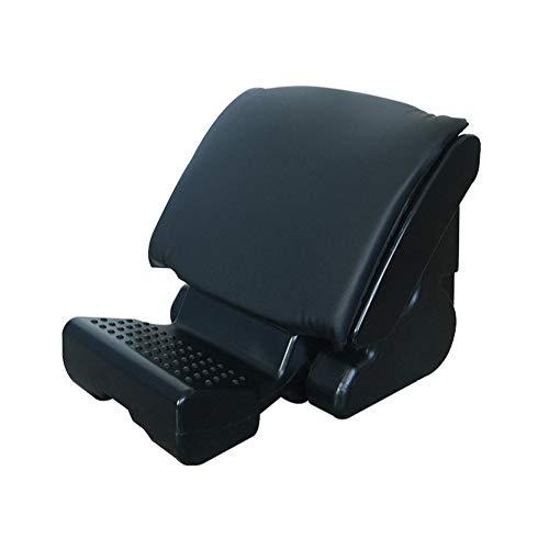 CONRAL Ergonomische neigungsverstellbare Fußstütze mit Massagefläche unter dem Schreibtisch, Fußstützenkissen zur Linderung von Knieschmerzen, müde, schmerzende und schmerzende Füße,Black
