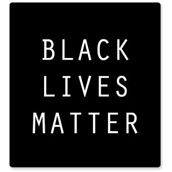 Yoonek Graphics 6 x 8.8, White BLACK Lives Matter Vinyl Decal Sticker # 914