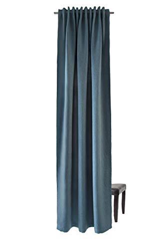 Homing blickdichter Akustik Verdunkelungsvorhang Uni Gardine Petrol Vorhang Wohnzimmer Schlafzimmer Kinderzimmer Dekostoff(1Stück) 245 x 140 cm (HxB) 5485-38