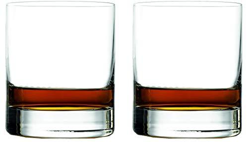 "Topkapi Whisky Glas ""Manhattan Bar"" für Whisky, Whisky on the Rocks, Drinks, Bar & Lounge Serie, H ~10,6 cm, V ~420 ml, 2 Stück, Transparent"