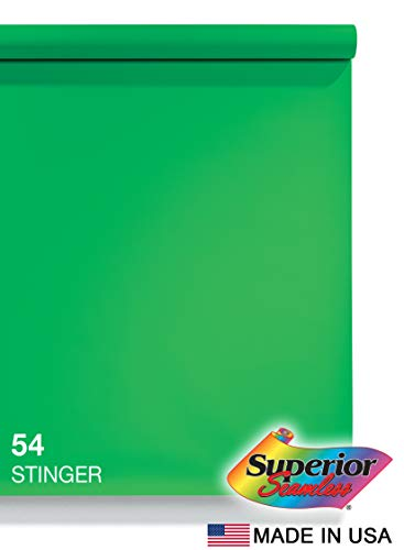 Superior Seamless Chromakey Photography Background Paper, 54 Stinger (53 inches Wide x 18 feet Long)