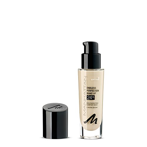 Manhattan Endless Idealion Make-up, Langanhaltende flüssig Foundation mit hoher Deckkraft, Farbe Soft Ivory 58, 1 x 30ml