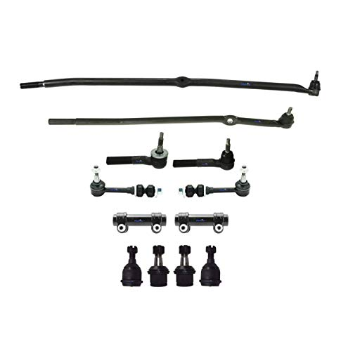 12 Pc Steering Kit for Dodge Ram 2500 and Dodge Ram 3500 / Tie Rod Linkages, Adjusting Sleeves, Upper & Lower Ball Joints, Front Sway Bar End Links