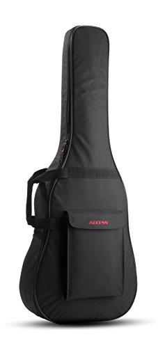 Access Upstart Bag–Western Guitarra acústica (tipo aught)–Funda para guitarra con acolchado de espuma y mochila Escobillero