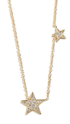 gorjana Women's Adjustable Super Star Shimmer Necklace, 18k Gold Plated, Cubic Zirconia Inlay Charm
