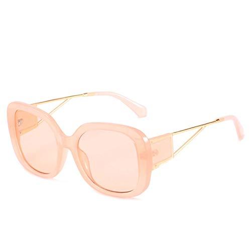 AMFG Gran marco Gafas de sol Decoración Mujeres y Hombres Personalidad europea y estadounidense Gafas de sol rectangulares Street UV400 Moda Viaje al aire libre Sombrilla de viaje Regalo (Color : F)
