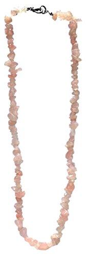 Kaltner Präsente Geschenkidee - Halskette für Damen und Herren aus dem Edelstein Rosenquarz