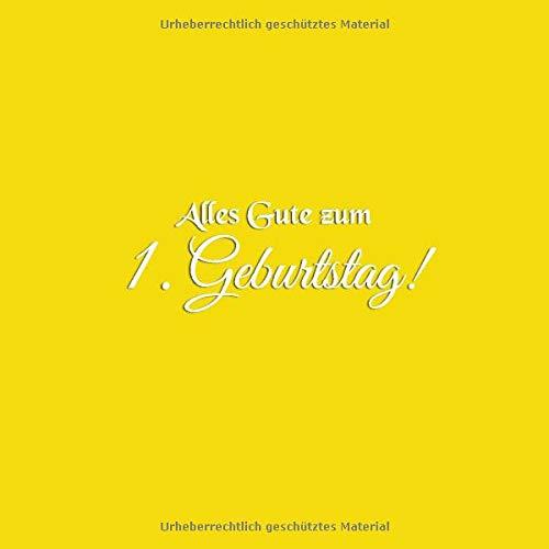 Alles Gute Zum 1 Geburtstag Gästebuch Zum 1 Geburtstag 1 Jahr Gäste Buch Geschenkideen Party Deko Kindergeburtstag Dekoration Geburtstagsdeko Zubehör
