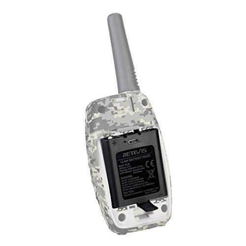 Retevis BL45 Rechargeable Battery 1000mAh USB Charging LED Indicator Li-ion Battery for Retevis RT628 RT45 Walkie Talkies (Black,2 Packs)