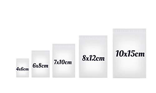 500 x Druckverschlussbeutel | Gleitverschlussbeutel | Schnellverschluß Tüten | Zip Lock Bags | Zip Verschlussbeutel | Polybeutel | Beutel Set mit 5 Größen von dok protektor