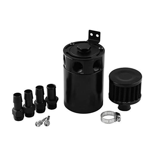 Demino Universal 3 Port Aluminium Afval Olie Herstelpot Kan Luchtfilter Set Auto Gemodificeerde Motor Ventilator