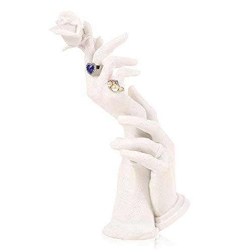 Nvshiyk Soporte de joyería Pendientes para Mujer Marco Decoración Anillo Asiento Joyas de exhibición Mueble Gabinete de Almacenamiento para el Anillo del Collar del Pendiente