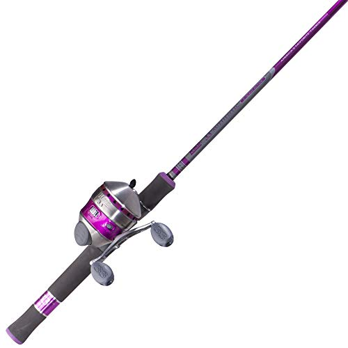 Zebco 33 Ladies Spincast Fishing Reel and Rod Combo, Multi-Color (33L602M,10C,NS4), 30