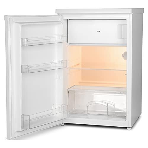 MEDION MD 37194 Kühlschrank mit Gefrierfach (109L Nutzinhalt, 95L Kühlteil, 14L Gefrierteil, wechselbarer Türanschlag) weiß