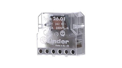 Finder 260180240000PAS Stromstoßschalter für Montage in Unterputzdose, 24VAC, 1Schließer, 10A