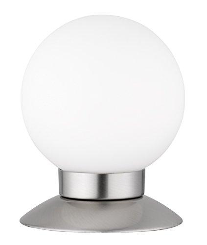 Reality Leuchten R52551907 Princess A+, LED Tischleuchte, 3 Watt, Integriert, Nickel matt, 4-fach Touch Dimmer, 10 x 10 x 13 cm