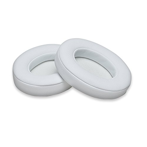 White Replacement Earpads, AGPTEK 2 Pieces Foam Ear Pad Cushion Compatible with Beats Solo 2 Wireless Headphone