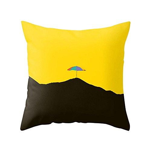 Housse de coussin Dragonaur - Jaune feuille d'ananas - Housse de coussin décorative pour couvre-lit, canapé, voiture, maison, Polyester, 5, Mountain