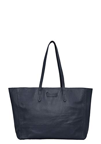 Liebeskind Berlin Damen Essential Shopper Large Schultertasche Blau (Navy Blue) 14x30x36 cm