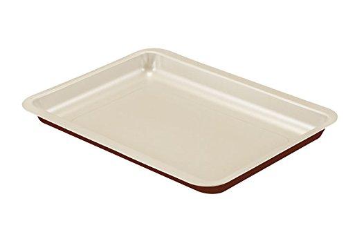 Guardini Chocoforme, Plaque à four rectangulaire 26 x 37 cm, acier avec revêtement anti-adhérent, couleur crème-chocolat