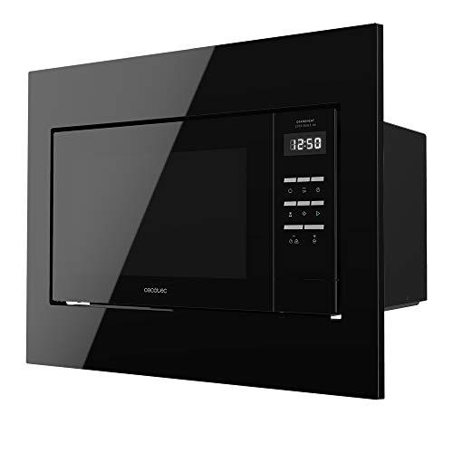 Cecotec Microondas Encastrable Digital GrandHeat 2300 Built-In Black. 800 W, Integrable, 23 Litros, Grill, 8 Funciones preconfiguradas, Temporizador, Diseño en negro
