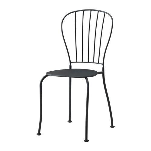 LÄCKÖ - Stuhl/außen, grau