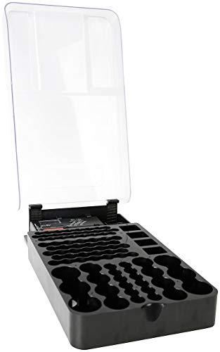 tka Köbele Akkutechnik Batterietester: 2in1-Batterie-Organizer für 93 Batterien, mit Batterie-Tester (Batteriehalter)
